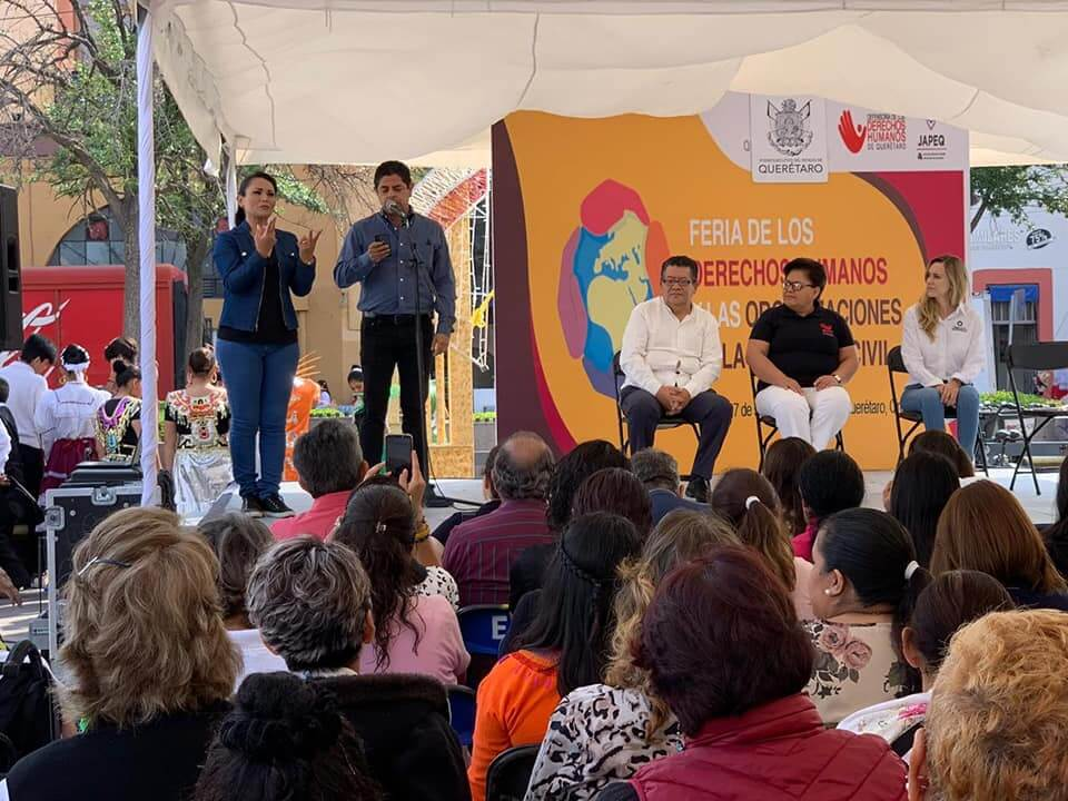 JAP Querétaro realizó Feria de los Derechos Humanos y de las OSC