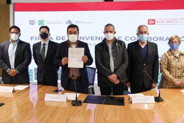 Firmó JAPCDMX y Alcaldía Azcapotzalco convenio de colaboración en favor de grupos de atención prioritaria